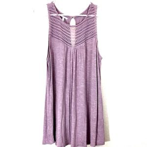 Maurices Purple Lace Detail Swing Tank Dress